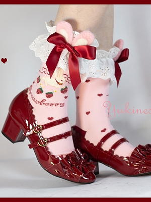 Strawberry Bunny Lolita Stockings by Yukines Box