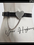 Idol Project Gothic Lolita Waistbelt with Heart Shaped Decoration by Your Highness