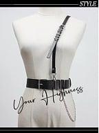Military Gothic Lolita Girdle with Shoulder Strap by Your Highness