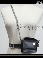 Military Gothic Lolita Waistbelt with Mini Bag by Your Highness