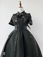 New Color Mega Snake II Military Style Lolita Dress OP by YourHighness