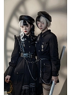 Little Sentry Military Style Couple Lolita Dress OP / Shorts by YourHighness