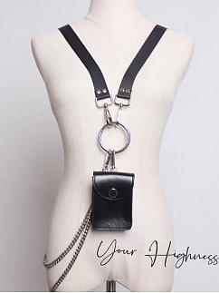 Black Gothic Lolita Mini Waistbag by Your Highness