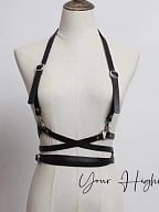 Simple Military Gothic Lolita Girdle with Shoulder Straps by Your Highness