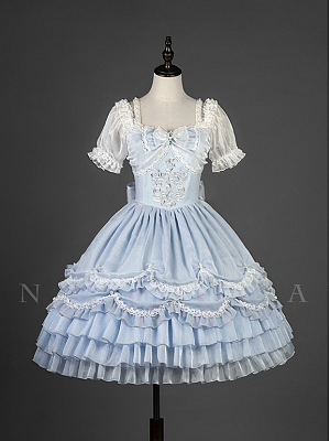 The Little Mermaid Short Puff Sleeve Lolita Dress OP by YUPBRO Lolita