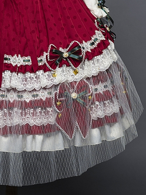 Leicester Christmas Lolita Dress Matching Overlayer by YUPBRO Lolita