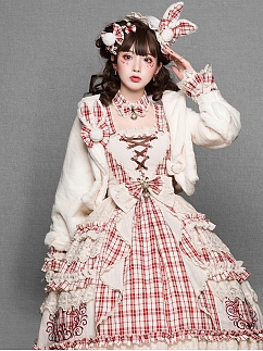 Miss Rabbit Sweet Lolita Plush Coat by YUPBRO Lolita