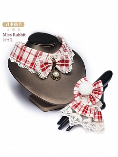 Miss Rabbit Sweet Lolita Choker and Wristcuffs by YUPBRO Lolita