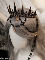 The Revelation Elegant Lolita Headpiece Crown by Zjstory