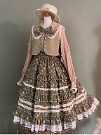 Little Blanca Country Style Lolita Vest by Zjstory
