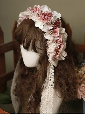Little Blanca Country Style Lolita Hairband by Zjstory