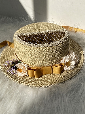 Little Blanca Country Style Lolita Hat by Zjstory