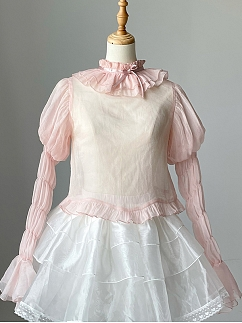 Antique Dreamland Virago Sleeves Lolita Blouse by Zjstory