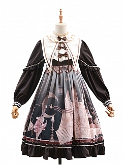 Bunny Long Sleeve Empire Waist Lolita Dress OP by ZhiJinYuan