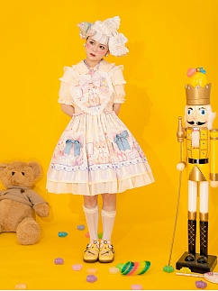 Two More Color Options - Teddy's Birthday Party Sweet Lolita Dress by Lollipops Lolita