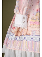 Teddy's Birthday Party Sweet Lolita Long Sleeves Dress by Lollipops Lolita