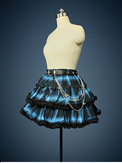 Cool Skirt with Free Waistbelt by Lollipops Lolita (Only Blue Color Available Now)