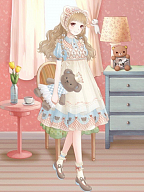 Teddy Dessert Sweet Lolita Dress OP / Overdress by Nikki Tomorrow